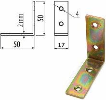 20x Starke Stahl Winkel Halterung Bar 50x