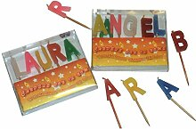 20 x versch. Namen Kerzen Schrift Buchstaben