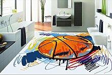 200 cmX 140 cm custom Hintergrundbild wasserdicht 3d-bodenbelag Badezimmer Tapeten gemalt Basketball 3D Wallpaper 3d-Wände, Bodenbeläge Maler Tapeten, B