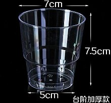 200 ml Einwegbecher dicken harten Plastik Becher Aviation transparentes Wasser Schüssel, 100er-Pack, 200 ML dick) nur 80