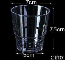 200 ml Einwegbecher dicken harten Plastik Becher Aviation transparentes Wasser Schüssel nur 100 Pack, 200 ml Schritt) 100