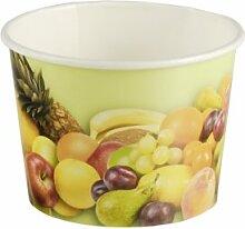 200 Stück Eisbecher mit Früchte Druck (100
