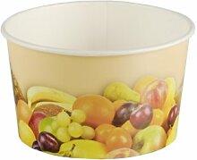 200 Stück Eisbecher mit Früchte Druck (125