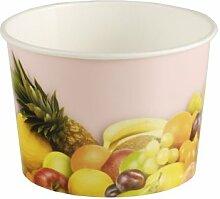 200 Stück Eisbecher mit Früchte Druck (150