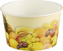 200 Stück Eisbecher mit Früchte Druck (250