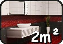200 Stück Fliesenaufkleber, Kachel Aufkleber Badezimmer Fliesen Aufkleber Küche, WC Dekor 2m² 10x10cm