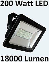 200 Watt LED Außenstrahler/Flutlicht, Kaltweiß