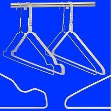 200 Weiss Draht-Kleiderbügel - mit Einkerbungen -