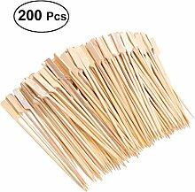 200 Wooden Bamboo BBQ Skewers, Rod, Fruit,