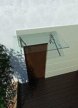 200 x 90 cm (2 Haltestangen) Glasvordach Vordach