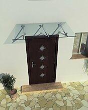 200 x 90 cm (3 Haltestangen) Glasvordach Vordach
