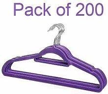 200x rutschfeste beflockte Samt lila Kleidung