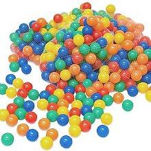 2000 bunte Bälle Bällebad 6 cm Farbmix