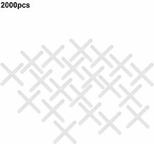 2000 Stück Kunststoff-Kreuzfliesen-Distanzstück