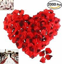 2000 Stück Rosenblätter Rose Petal Hochzeit Dekoration und romantische Atmosphäre