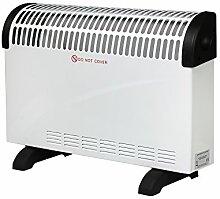 2000W Konvektor Heizung Konvektor Heizer Radiator Heater Elektro Elektrische Heizung Elektroheizung mit Thermostat, weiss