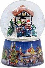 20071 Nostalgie-Schneekugel Weihnachtssinger auf