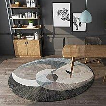 200cm Rund Shaggy Teppich fürs Wohnzimmer *