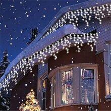 200er LED 5m Eisregen Lichterkette Lichtervorhang