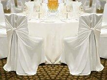 200polyester Universal selbst Krawatte Stuhl deckt Hochzeit Party Dekorationen versandkostenfrei 2Farbe weiß
