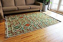 200x135 cm Orientalischer Teppich , Kelim,Kilim ,Carpet ,Bodenmatte ,Bodenbelag ,Rug, Neu aus Damaskunst S 1-4-41