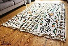 200x135 cm Orientalischer Teppich , Kelim,Kilim ,Carpet ,Bodenmatte ,Bodenbelag ,Rug Neu aus Damaskunst S 1-4-43