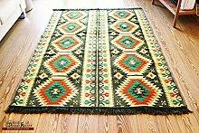 200x135 cm Orientalischer Teppich , Kelim,Kilim ,Carpet ,Bodenmatte ,Bodenbelag ,Rug Neu aus Damaskunst S 1-4-64
