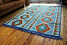 200x135 cm Orientalischer Teppich , Kelim,Kilim ,Carpet ,Bodenmatte ,Bodenbelag ,Rug Neu aus Damaskunst S 1-4-71