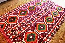 200x135 cm Orientalischer Teppich , Kelim,Kilim ,Carpet ,Bodenmatte ,Bodenbelag ,Rug Neu aus Damaskunst S 1-4-72