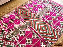 200x135 cm Orientalischer Teppich , Kelim,Kilim ,Carpet ,Bodenmatte ,Bodenbelag ,Rug Neu aus Damaskunst S 1-4-24