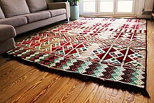 200x300 cm Orientalischer Teppich , Kelim,Kilim ,Carpet ,Bodenmatte ,Bodenbelag ,Neu aus Damaskunst S 1-6-21