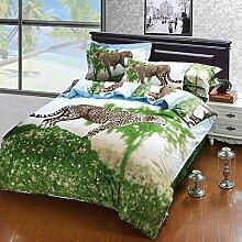 2015 festgelegt Jaguar vierk?pfige Baumwolle Haut fest Drucken vier Betten , picture 1 , 200*230cm