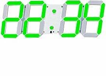 2016 LED 3D Dekoration 3D Digitaluhr große weiße Wand des modernen Büro Uhr und grün