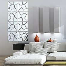 2016 neue Wand Aufkleber Living Home Dekor acryl Spiegel Mode Muster große große 3d Wall Sticker diy echten kostenloser Versand, schwarz, 30 x 120 cm