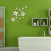 2017 Angebot Wall Sticker Acryl 3d Aufkleber vintage Home Decor großer Spiegel Aufkleber vinilos moderne Paredes, Gold