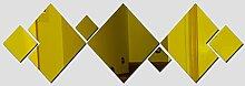 2017 Hot Sale Wall Sticker Acryl 3d Aufkleber Dekoration Spiegel Aufkleber diy modernes Wohnzimmer Tapetensticker, Gold