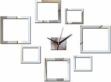 2017 Hot Wall Sticker Wecker Uhren Wohnkultur Mode acryl Spiegel Aufkleber moderne Uhr Wohnzimmer, gold