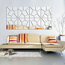 2017 Neue diy-Acryl, Spiegel, an der Wand Aufkleber echten Förderung Hot Sale Home Decor Europe fashion Still life 3D-Sticker, Silber