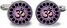 2017 Neue Manschettenknöpfe violetter Buddhismus