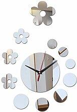 2017 Neue Verkauf Wand Aufkleber Quarzuhr home Dekoration Wohnzimmer Europa Möbel acryl Spiegel Aufkleber, schwarz