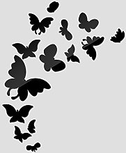 2017 Neuer Wall Sticker Acryl 3d Aufkleber Home Decor Butterfly spiegel Aufkleber diy modernes Wohnzimmer Tapetensticker, Silber