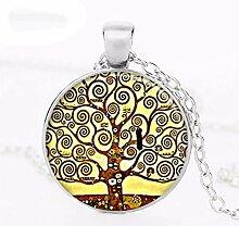 2019 Halskette mit Baum des Lebens Gustav Klimt