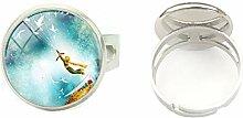 2019 Hochwertiger handbemalter Ring aus Glas, für