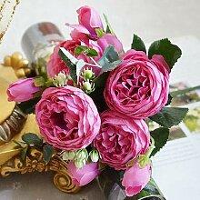 2019 Schöne Rose Pfingstrose Künstliche