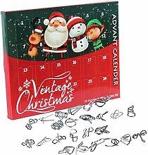 2020 Weihnachten Advent Countdown Kalender 24pcs