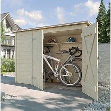 205 cm x 84 cm Fahrradgarage aus Massivholz Weka