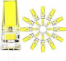 20er Pack,G4 LED Lampe Kaltes Weiß 6000K 3.5W COB
