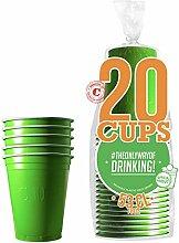 20er Pack Offiziellen Original Green Cups  