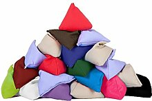 20er Pack von Vermischte Farben Baumwollgewebe Dreieckige Jonglieren Sitzsack Garten Spiele PE Sport-