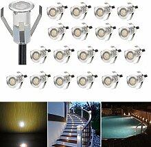 20er Set LED Lampen 0.4W Mini Treppen